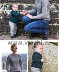 Пуловер реглан спицами сверху, базовые модели с описанием для малышей, детей, взрослых и полных женщин
