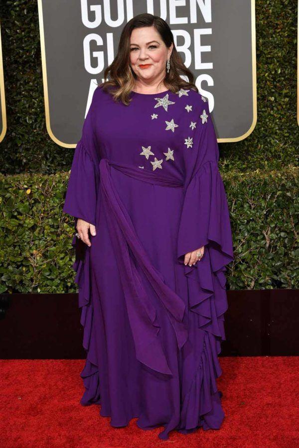 2019 Golden Globes - Melissa McCarthy in Reem Acra  5eb1b61bd
