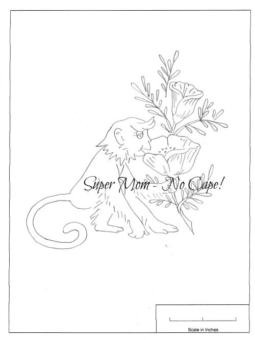Vintage Workbasket Embroidery Pattern for Monkey and Poppy from Page 81
