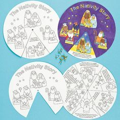Printable Christmas Crafts for Sunday School, Preschoolers, Kindergarten