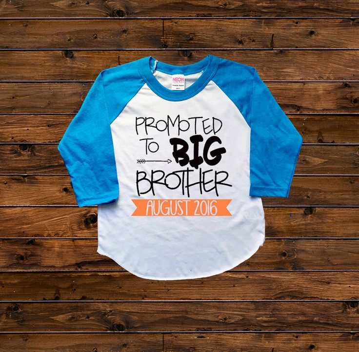 DISCOUNT Code: ANNABELLE15 on all Vazzie Tees purchases <3  Big Brother Shirt - Promoted to Big Brother - Announcement Shirts - Brother Shirts - Big Brother to Be - Personalized - Boys' Shirts by VazzieTees on Etsy https://www.etsy.com/listing/286576127/big-brother-shirt-promoted-to-big