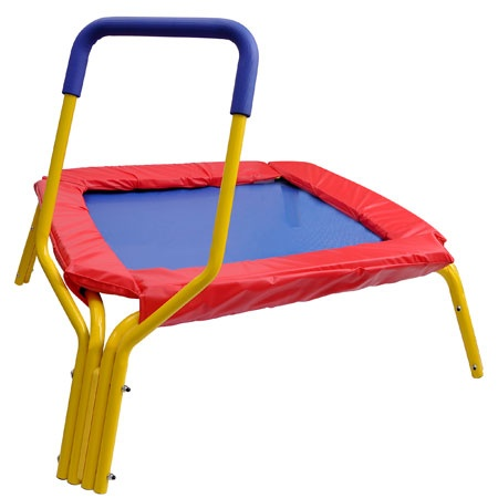 Love This For Connor!  Mini Exercise Kids Trampoline with Handle & Pad - TheLaShop