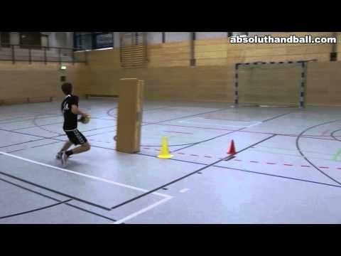 1 on 1 handball offense technique training - YouTube