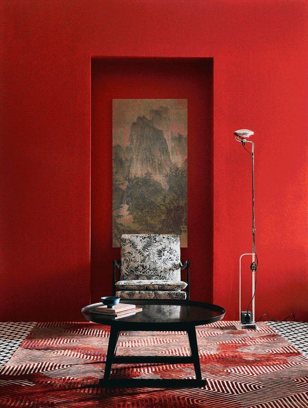 Image Result For IMAGES OF RED ASIAN MODERN LIVING SPACES