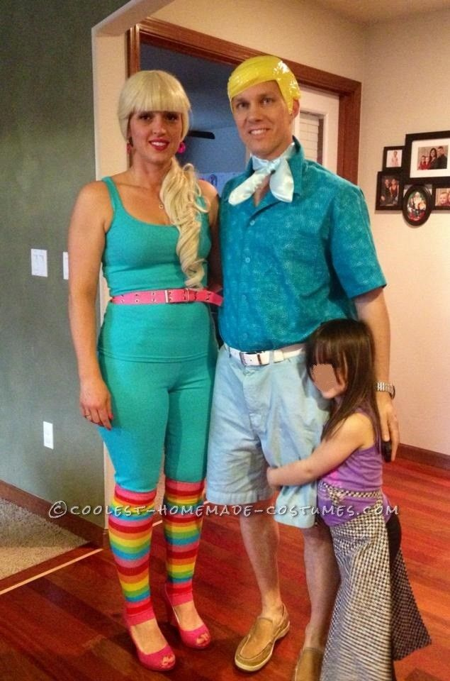 coolest adult diy couple costume idea toy story barbie and ken - Halloween Costumes Idea For Couples