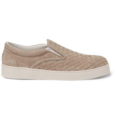 Bottega VenetaIntrecciato Suede Slip-On Sneakers