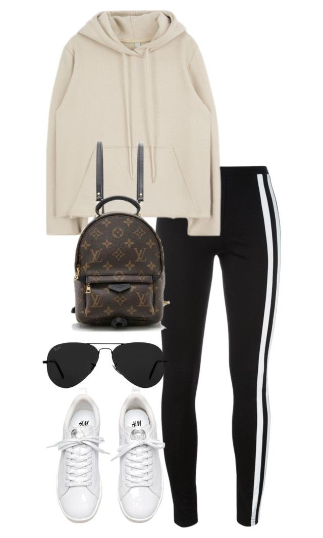 """""""Untitled #4021"""" by theeuropeancloset ❤ liked on Polyvore featuring Y-3, Louis Vuitton and Ray-Ban"""