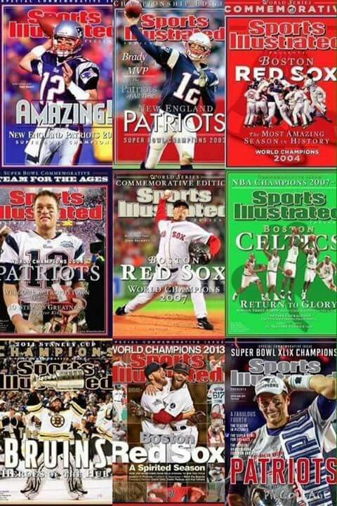Sports Illustrated's Boston Championship Covers From 2001 To 2015