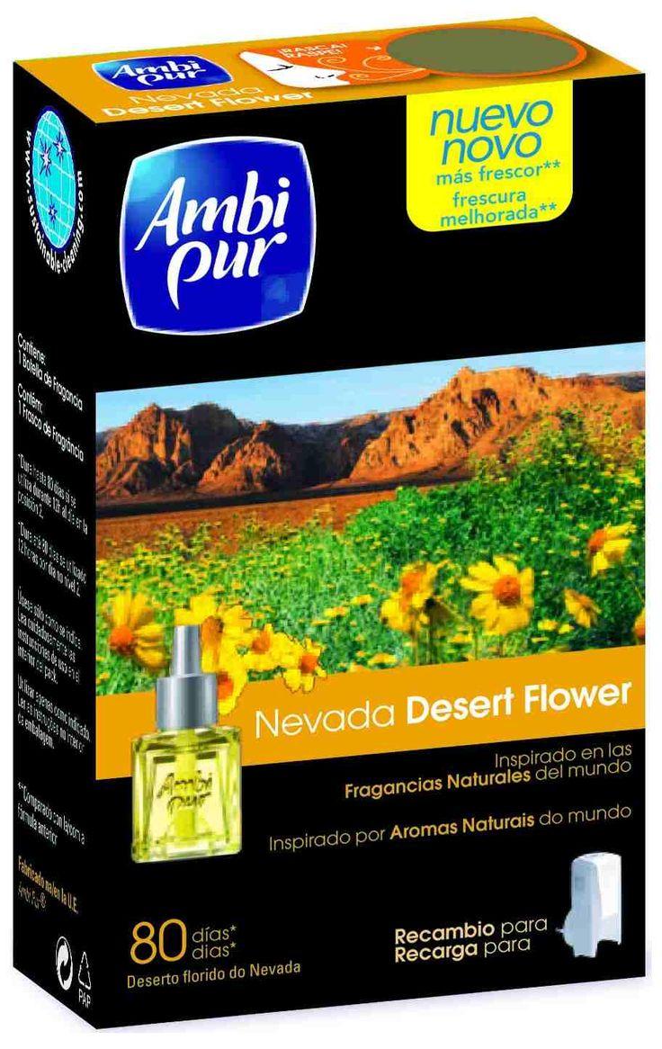Ambi Pur Nevada Desert Flower Elektrische Luchtverfrisser 18 ml  Description: Ambi Pur Nevada Desert Flower Elektrische Luchtverfrisser 18 ml Ambi Pur Starter 18ml  Refill 18ml Desert Flower Woestijnbloemen in je huiskamer! Geuren die de lucht verfrissen je thuis laten voelen en een uitnodigende sfeer creren. Van deze heerlijke geuren kun je genieten met onze Ambi Pur elektrische luchtverfrissers.- Inclusief navulflacon - Biedt 80 dagen frisheid - Gebaseerd op geuren uit de natuur…