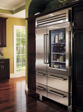 Major Kitchen Appliances Sub Zero Refrigerator - see through glass door, gives the allusion of more space