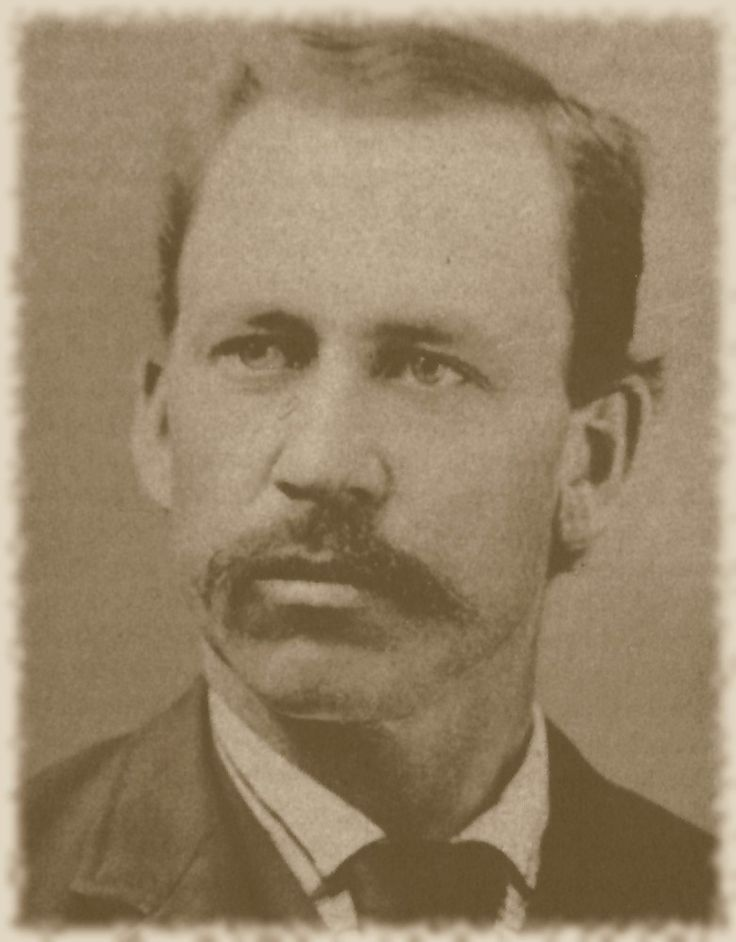 Almanzo Wilder, 1894 (the year he and Laura moved to Mansfield and bought Rocky Ridge), 37 years old.