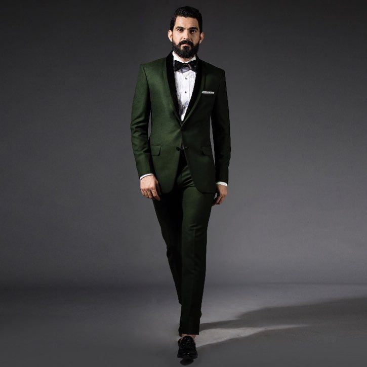 **Picked by the man himself!** The SS HOMME Forest Green Tuxedo makes a clean get-up. #sshomme #mumbai #tuxedos #menswear #bespoke - sshomme