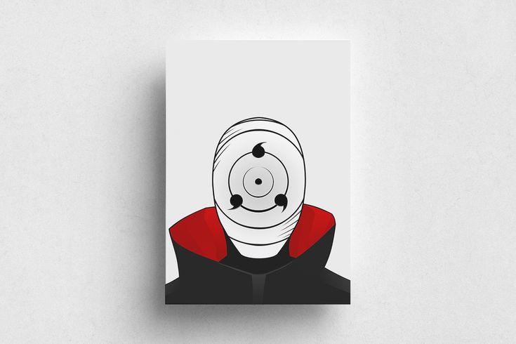 #Naruto #Anime #Illustration #Red #White #Poster #Print #Minimalism #Minimalist #Design #Graphic Design #Adrian #Iorga #Art #Wallart #Decoration #Fashion