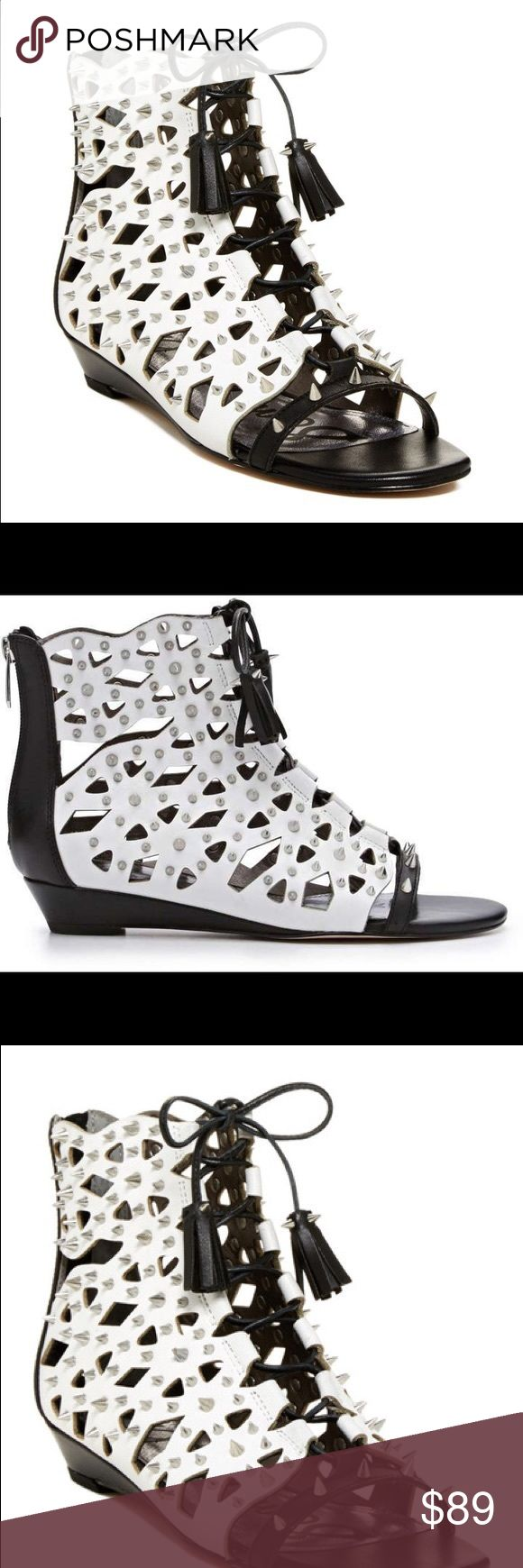 Sam Edelman Daphnie Gladiator Sandal Go all out in rocker chic with the Daphnie sandal from Sam Edelman®! Genuine leather upper with metal spike embellishments throughout. Rear zipper and lace closure. Open toe. Man-made lining and footbed. Man-made outsole. Actual pictures. Coming soon Sam Edelman Shoes Sandals