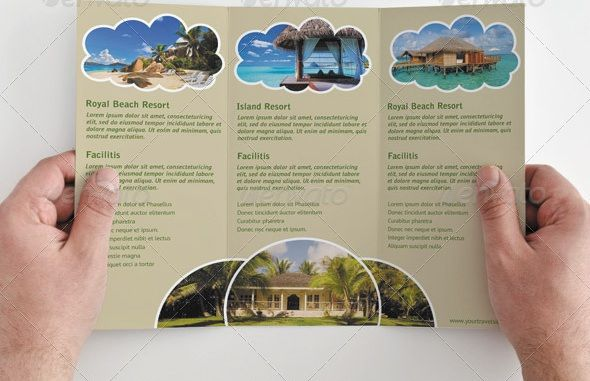 tri fold brochure template travel agency – Vacation Brochure Template