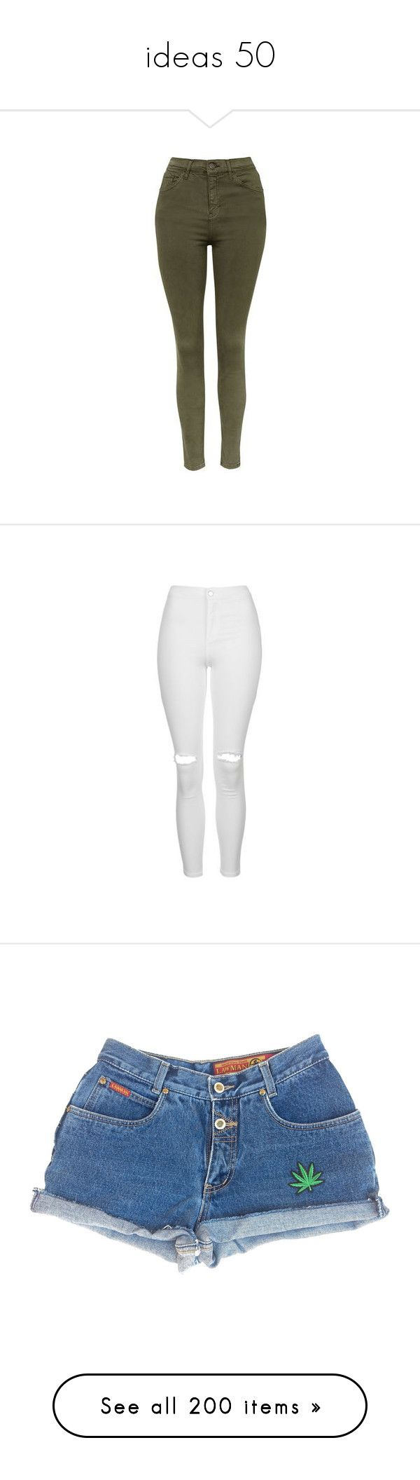 """""""ideas 50"""" by tomlinsonsadidas ❤ liked on Polyvore featuring jeans, pants, bottoms, calça, pantalones, khaki, topshop skinny jeans, high-waisted jeans, denim skinny jeans and rock n roll jeans"""