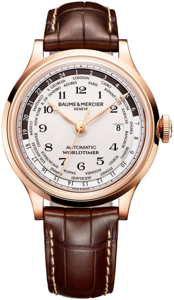 Baume et Mercier Watch Capeland #bezel-fixed #bracelet-strap-alligator #brand-baume-et-mercier #case-depth-14-5mm #case-material-rose-gold #case-width-44mm #date-yes #delivery-timescale-call-us #description-done #dial-colour-silver #gender-mens #luxury #m
