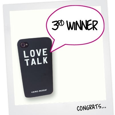 "3rd WINNER IS FOUND! Congratulations to Leonie Mulder, you are the third to win an exclusive iPhone cover. The contest continues - We still need 2 more winners! To enter the contest 1) Login to PINTEREST and follow veromodafashion and 2) re-pin the official contest pin; ""RE-PIN TO WIN"" Good luck everyone!"