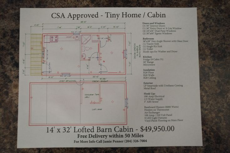 Turn Key tiny home from Premier portable buildings in Canada. 14x32 lofted barn cabin