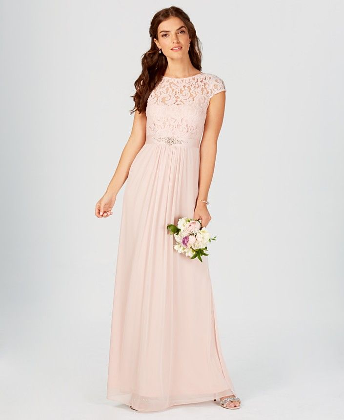 6b45cd4ed7ee Tan/Beige Bridesmaid Dresses - Macy's | Bridesmaids Dresses ...