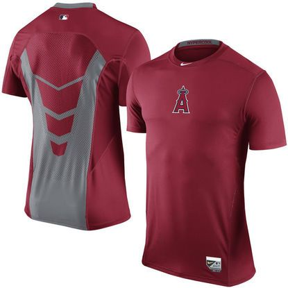 Los Angeles Angels of Anaheim Nike Hypercool Performance T-Shirt in Red
