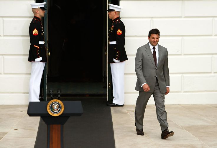 Tony Stewart - Obama Welcomes NASCAR Champions To White House ~ He does look good in a suit