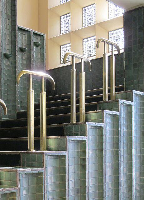 Pewabic Saarinen stair by southofbloor, via Flickr