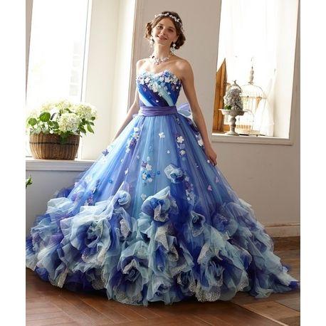 愛ロイヤルウェディング セントラルパークタワー【愛ロイヤルウェディング】カラードレス 新作 ブルー|ウエディングドレスを探す|ゼクシィ
