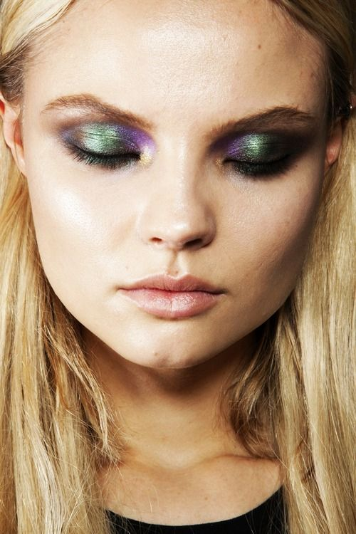 Iridescent/ Holographic eye shadows