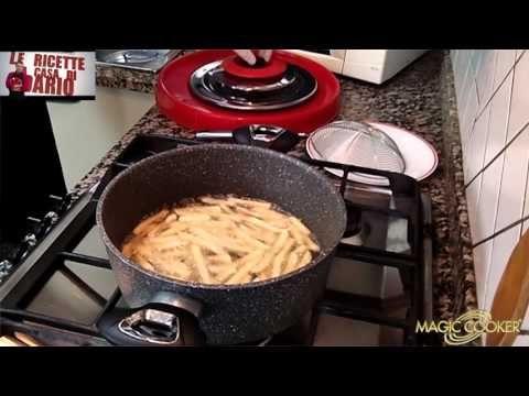 Le Basi di MC La frittura delle Patatine surgelate con olio a freddo e Magic cooker 219 - YouTube