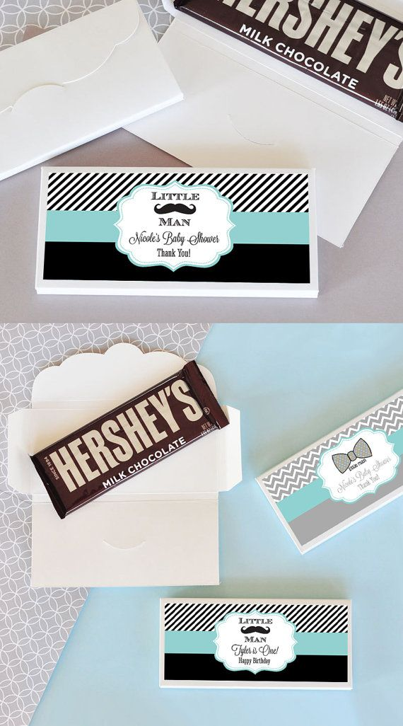 Mustache Candy Bar Wrappers will add a sweet touch to your little man baby shower or mustache birthday party favors! These easy DIY birthday party