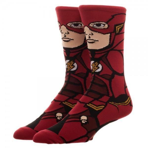 Justice League Flash 360 Character Men's Crew Socks