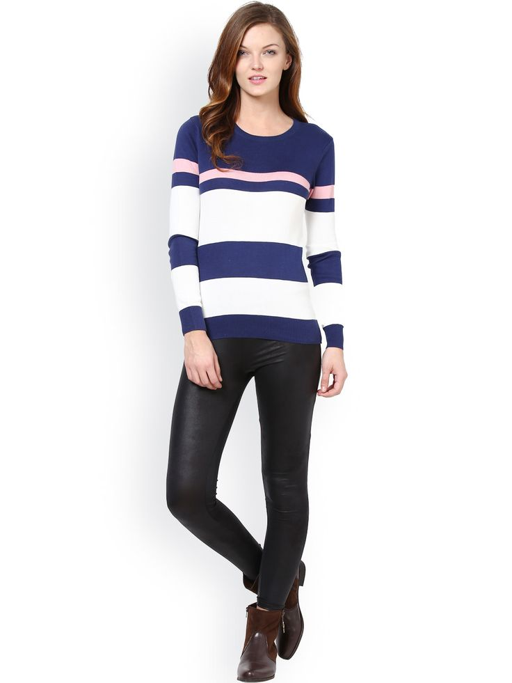 Women-Navy-White-Striped-Sweater_
