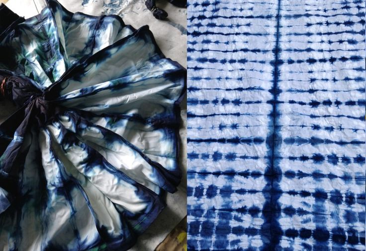 DIY Shibori Bedding - Finished Flat Sheet