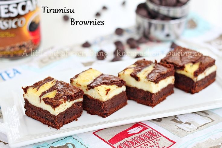 All the delicious flavors of Tiramisu swirled with a rich chocolate brownie to make these hard to resist Tiramisu Brownies