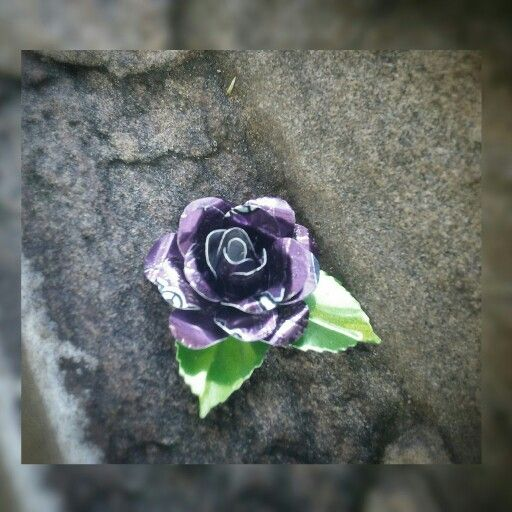 I had a request for a purple rose, so here it is, made from soft drink can aluminium :) #upcycled #recycle #rose #jewelry #jewellery #handmade #handcrafted #Blackstarr