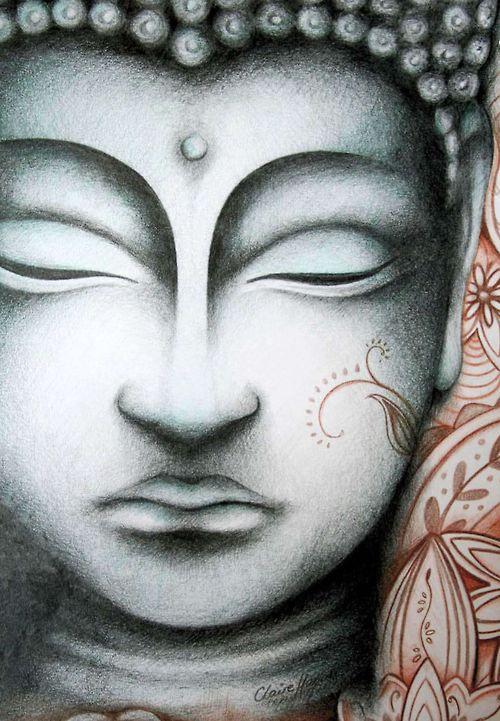 Buddha Face Line Drawing : Beautiful buddha drawing claire hamill modern