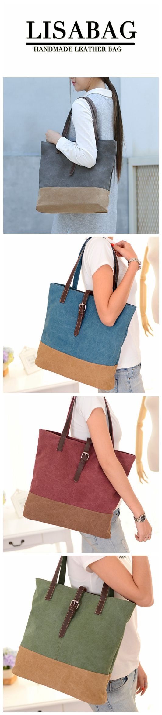 Women's Fashion Canvas Bag Shoulder Bag Casual Canvas Totes Diaper Bag in Green MD01