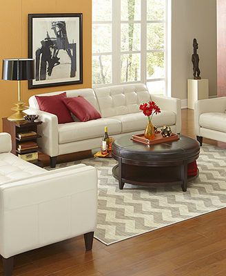 Milan Leather Sofa Living Room Furniture Collection Macy's.  Very comfortable.  Italian Leather not bonded