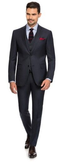 CHARCOAL PIN POINT - Louis Purple Luxury Suits