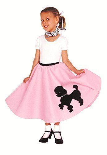 Poodle Skirt With Musical Note Printed Scarf Kidcostumes Amazon