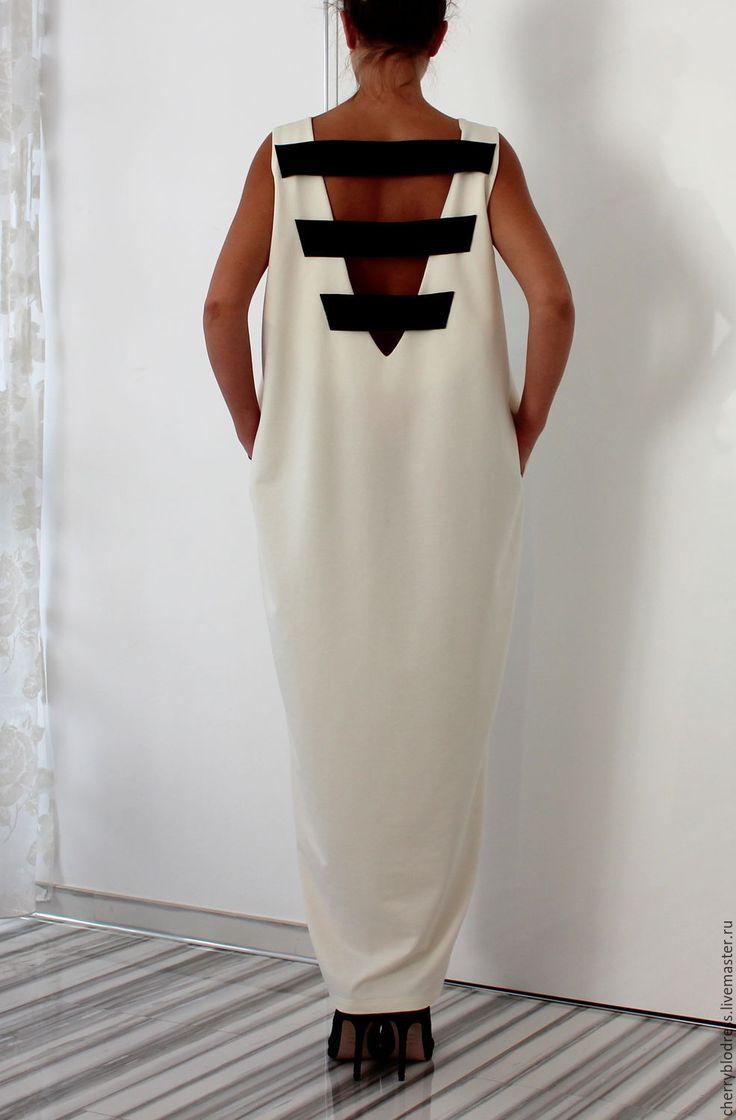 CHERRYBLOSSOMSDRESS Белое элегантное коктейльное макси платье, кафтан с открытой спиной