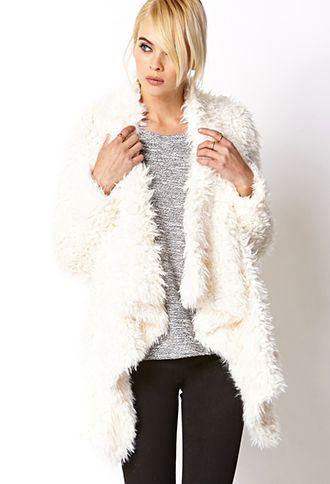 Boho Babe Shag Coat | FOREVER 21 - 2000074707 fuzzy wuzzy...only $47.80