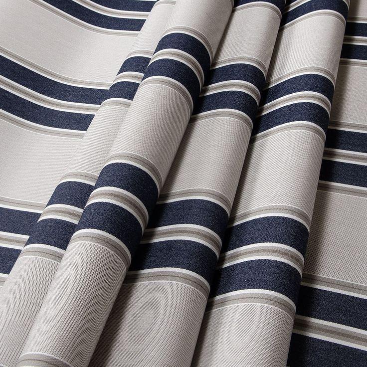 Sunbrella Awning Stripe 4916 0000 Navy Taupe Fancy 46 Fabric In 2020 Sunbrella Awning Fabric Awning Shop Awning