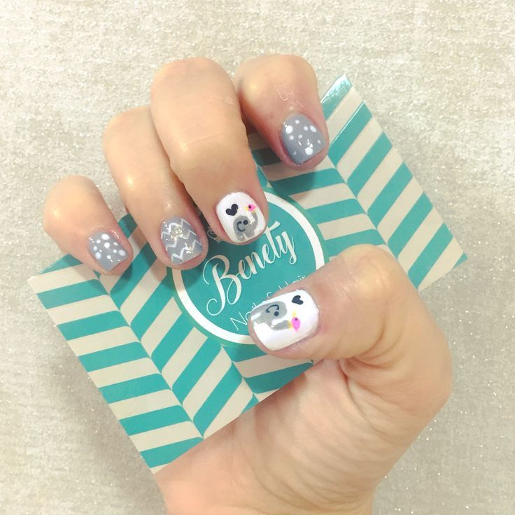 Cute adorable nail art design