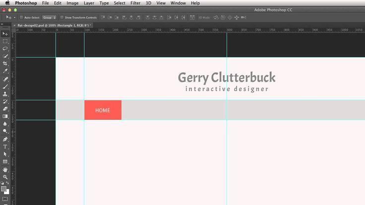 Плоский дизайн при разработке макетов сайта в Photoshop. Урок 7