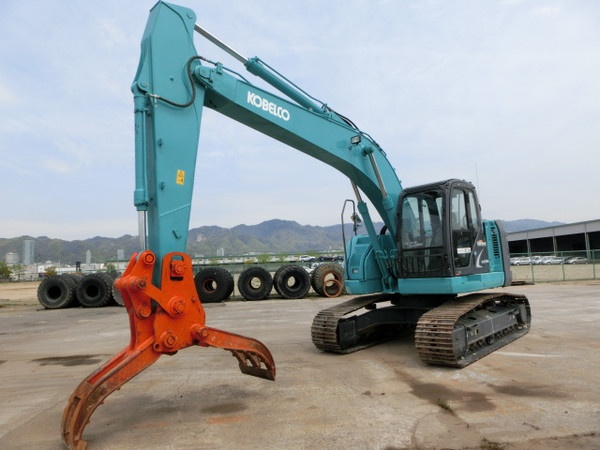 S04.  KOBELCO HYDRAULIC EXCAVATOR FOR SALE SK225SR-2 YB06-03800UP 2012YR WITH GRAPPLE IN SINGAPORE