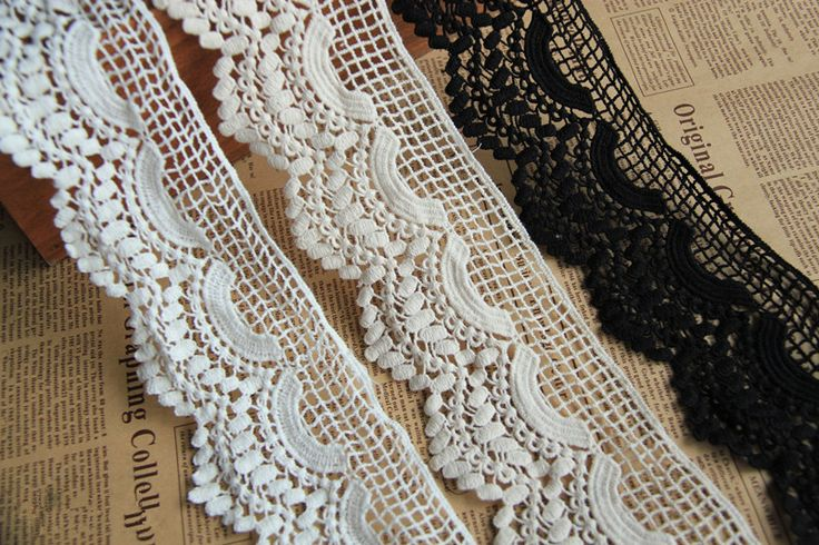 (5yds/lot 7cm wide + free shipping) black white beige crochet lace trim Vintage sewing Lace-in Lace from Home & Garden on Aliexpress.com | Alibaba Group