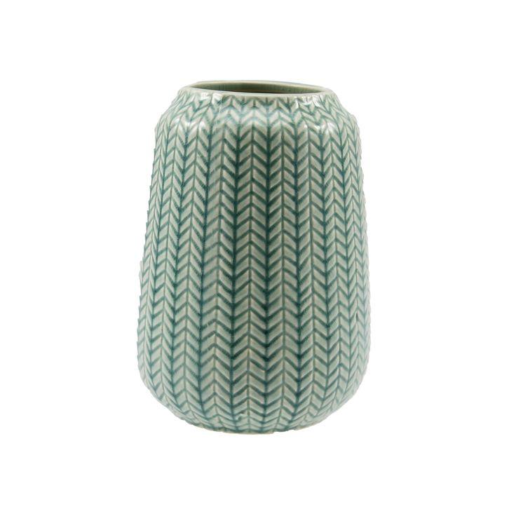 Vase Vilja oval grønn