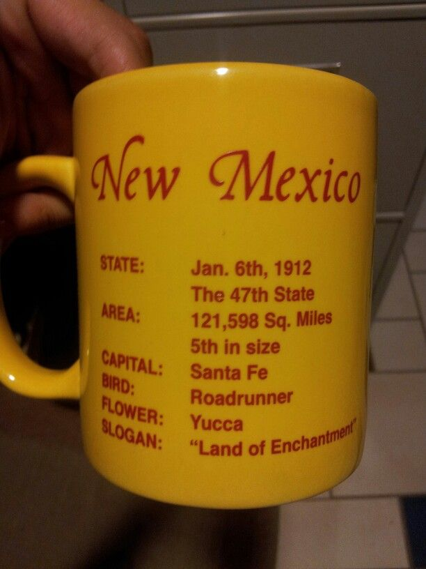New Mexico facts, but it's missing the State Question: Red or Green?  (referring to chili)
